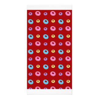 Modelo rojo del buñuelo tarjeta personal