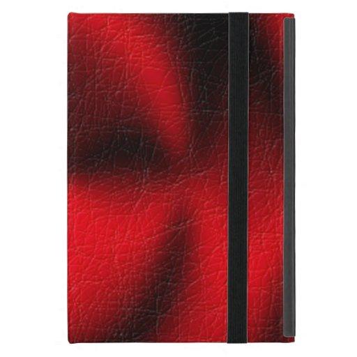 Modelo rojo del círculo iPad mini fundas