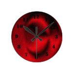 Modelo rojo del círculo reloj redondo mediano