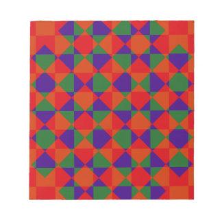 Modelo rojo del control del verde azul blocs de papel