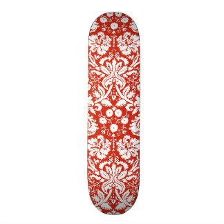Modelo rojo del damasco tabla de patinar