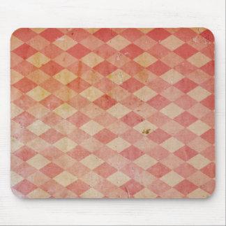 Modelo rojo del diamante del papel pintado viejo,  alfombrillas de ratón