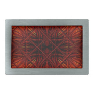 Modelo rojo del diamante del vitral hebilla cinturón rectangular