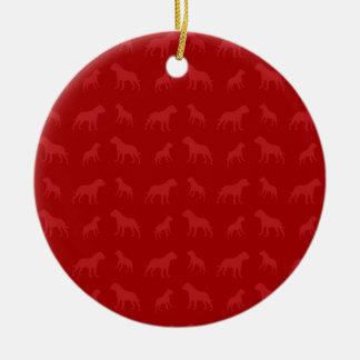 Modelo rojo del dogo ornamento de reyes magos