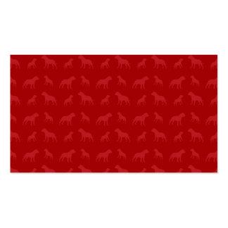 Modelo rojo del dogo tarjeta de negocio