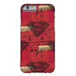 Modelo rojo del escudo funda para iPhone 6 barely there