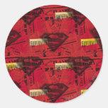 Modelo rojo del escudo pegatina redonda