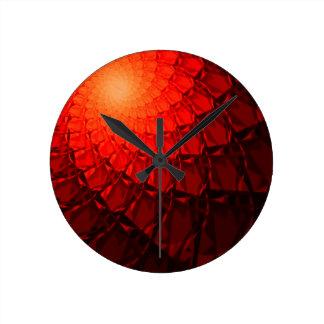 Modelo rojo del fractal relojes