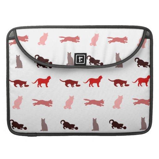 Modelo rojo del gato fundas macbook pro