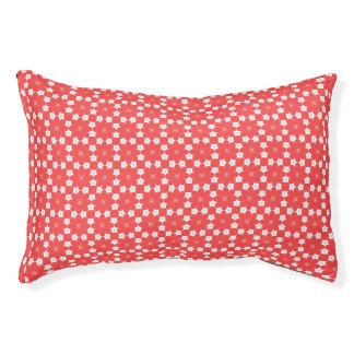 Modelo rojo del hexágono de la flor cama para perro pequeño