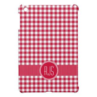 Modelo rojo del mantel de la guinga del país iPad mini protectores