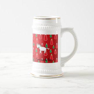 Modelo rojo del muñeco de nieve del unicornio del  jarra de cerveza