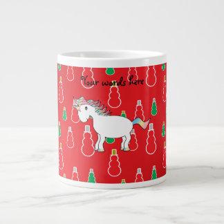 Modelo rojo del muñeco de nieve del unicornio del  taza grande