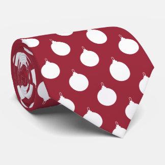 Modelo rojo del ornamento del navidad corbatas personalizadas