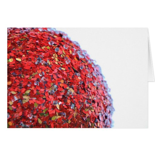 Modelo rojo del ornamento tarjeta