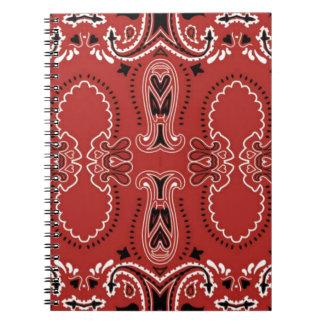 Modelo rojo del pañuelo cuaderno