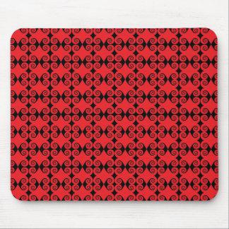 Modelo rojo del rizo tapetes de ratones