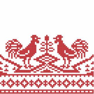 Modelo rojo del ruso del punto de cruz de los fotoescultura vertical
