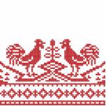 Modelo rojo del ruso del punto de cruz de los gall escultura fotografica