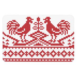 Modelo rojo del ruso del punto de cruz de los imanes flexibles