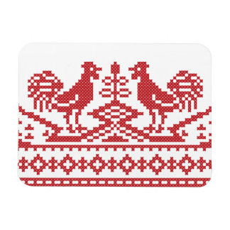 Modelo rojo del ruso del punto de cruz de los rectangle magnet