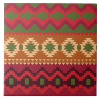 modelo rojo del sudoeste - arte abstracto azulejo cuadrado grande