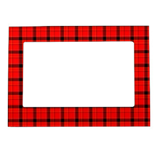 Modelo rojo del tartán de la tela escocesa foto de imanes