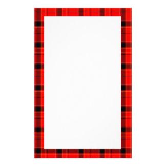 Modelo rojo del tartán de la tela escocesa  papeleria