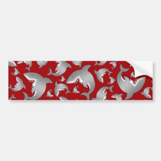 Modelo rojo del tiburón pegatina de parachoque