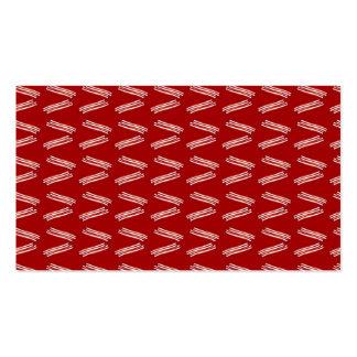 Modelo rojo del tocino tarjeta de visita