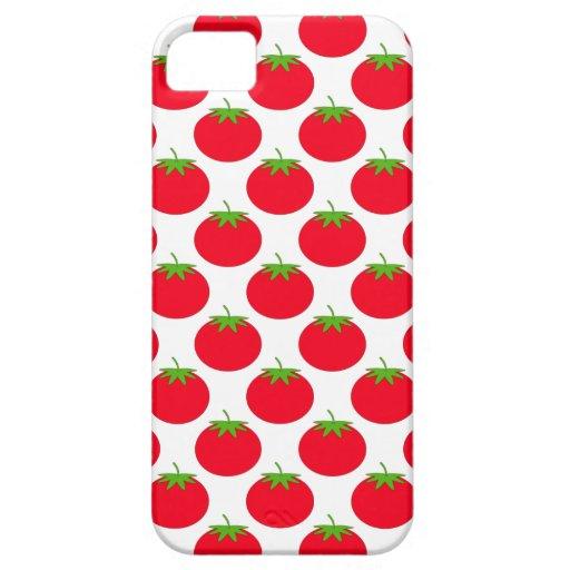 Modelo rojo del tomate iPhone 5 Case-Mate protectores