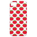 Modelo rojo del tomate iPhone 5 funda