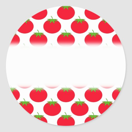 Modelo rojo del tomate pegatinas redondas
