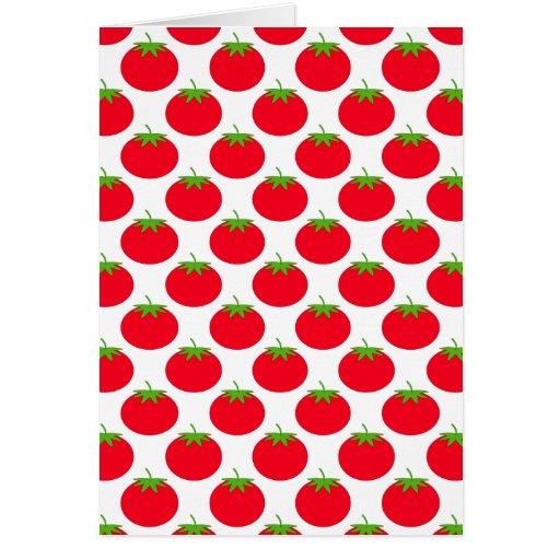 Modelo rojo del tomate tarjetas