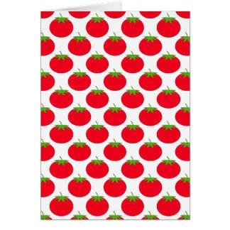 Modelo rojo del tomate tarjeta de felicitación