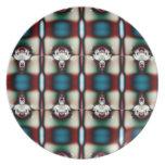 modelo rojo del trullo del fractal platos de comidas
