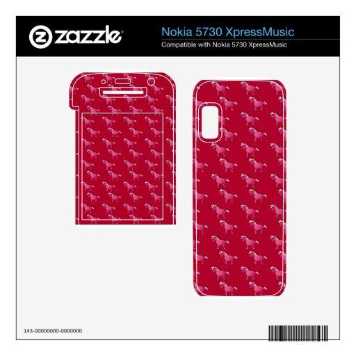 Modelo rojo del unicornio nokia 5730 skins