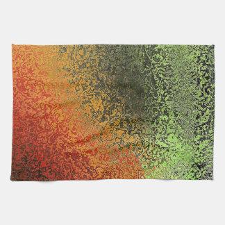 Modelo rojo del verde y del oro toallas