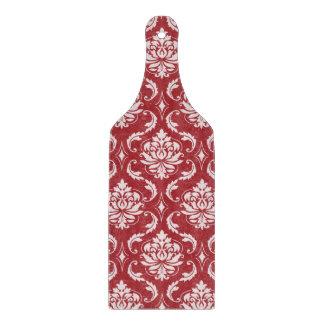 Modelo rojo del vintage del damasco tabla para cortar