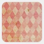 Modelo rojo descolorado del papel pintado del pegatina cuadrada