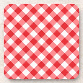 Modelo rojo, diagonal de la guinga apoyavasos
