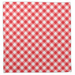 Modelo rojo, diagonal de la guinga servilletas imprimidas