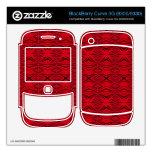 modelo rojo elegante BlackBerry curve 3G skin
