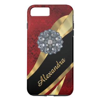 Modelo rojo elegante bonito personalizado del funda iPhone 7 plus
