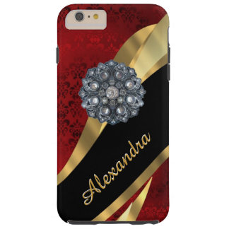 Modelo rojo elegante bonito personalizado del funda resistente iPhone 6 plus