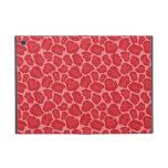 Modelo rojo femenino del leopardo iPad mini funda