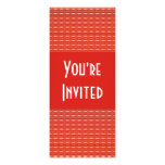 Modelo rojo invitacion personalizada
