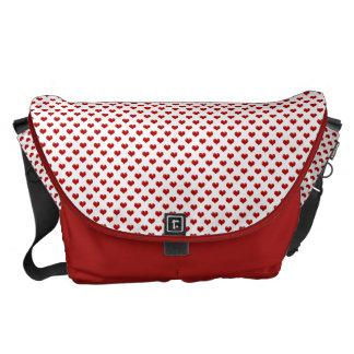 Modelo rojo lindo de los corazones del amor del el bolsa de mensajería