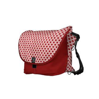 Modelo rojo lindo de los corazones del amor del el bolsa de mensajeria