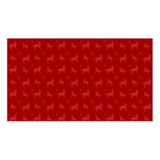 Modelo rojo lindo de los gatos y de las patas tarjetas de negocios